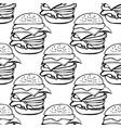 seamless pattern a hamburgers vector image vector image