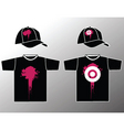 shirt and cap vector image