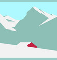 snowy mountain landscape vector image