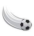 soccer ball icon with an effect vector image