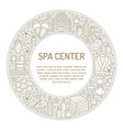 spa center banner with flat line vector image vector image