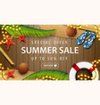 special offer summer sale up to 50 off brown vector image
