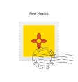 State of New Mexico flag postage stamp vector image