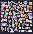 summer stickers black vector image