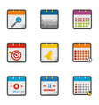 translation icons set flat style vector image vector image