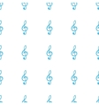 Unique Treble clef seamless pattern