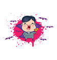vampire in kawaii style vector image vector image