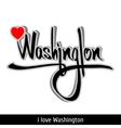 Washington greetings hand lettering Calligraphy vector image vector image