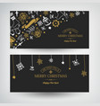 winter holidays festive horizontal banners vector image
