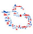 world travel vector image