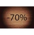 70 percent discount icon symbol Flat modern web vector image vector image