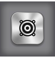 Audio speaker icon - metal app button vector image