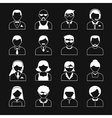 Avatar Characters Icons Set vector image vector image