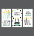 birhday invitation card design vector image vector image