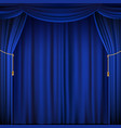blue theater curtain vector image vector image