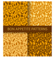 bon appetite pattern vector image vector image