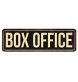 box office vintage rusty metal sign vector image
