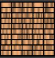 bronze foil horizontal texture gradation vector image