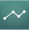 business graph icon on grid isolated on modern vector image