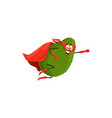cartoon avocado superhero isolated icon vector image vector image