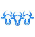 Cattle icon grunge watermark