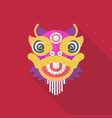chinese dancing lion in flat style vector image