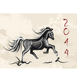 chinese new year horse 2014 vector image vector image