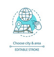 choose city and area concept icon vector image