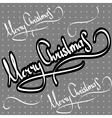 christmas greetings hand lettering set vector image vector image