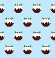 christmas pudding seamless pattern vector image vector image
