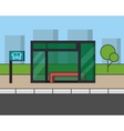 City bus stop Outline line vector image