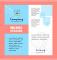 cloud downloading company brochure title page vector image vector image