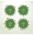 Collection labels with fresh berries vector image vector image