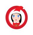 Cute baby girl Santa claus vector image vector image