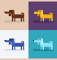 cute funny dog set in different colors vector image