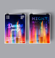 dance party poster or flyer background vector image