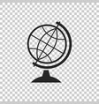 earth globe icon on transparent background vector image vector image