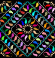 embroidery paisley seamless pattern ethnic vector image