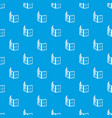 facade window frame pattern seamless blue vector image vector image