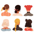 female stylish hairstyles and accessories young vector image