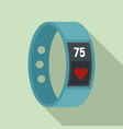 fitness bracelet icon flat style vector image vector image