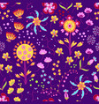 floral summer pattern in graphyc style vector image vector image