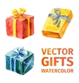 gifts watercolor 2 vector image vector image