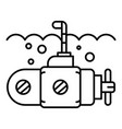 guard submarine periscope icon outline style vector image vector image