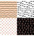 hand drawn seamless pattern set simple texture vector image vector image