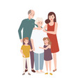 happy family with grandfather grandmother mother vector image vector image