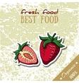 Healthy Food Strawberry vector image