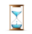 hourglass with water water drips into the watch vector image vector image