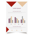 infographic flyer and brochure elements vector image vector image