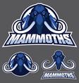 mammoth mascot logo vector image vector image